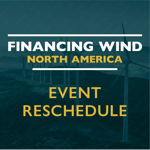 Event rescheduling statement for Financing Wind North America 2020